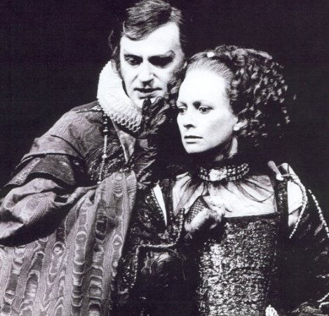 As Duke Vincentio with Francesca Annis as Isabella
